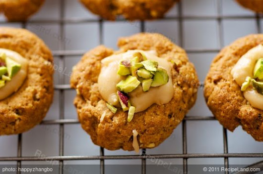 Almond Thumbprint Cookies (Low Fat, Low Calorie) recipe
