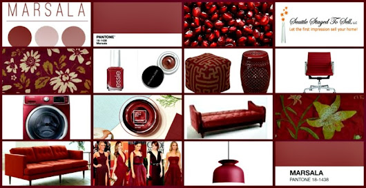 Marsala – 2015 Pantone Color Of The Year | Seattle Staged to Sell | Real Estate Home Staging | Seattle, WA