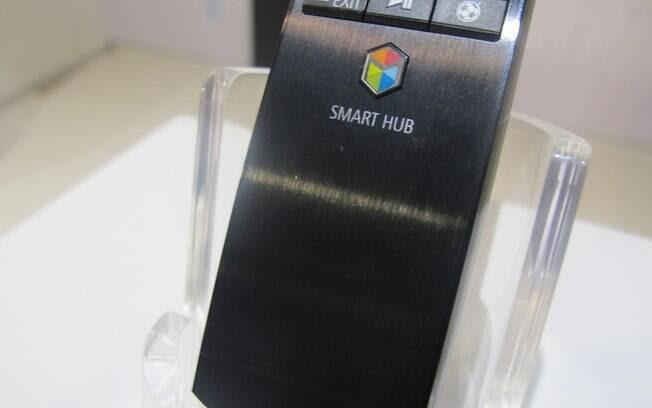 Botão colorido Samrt Hub leva o usuário para a tela inicial do sistema. Foto: Emily Canto Nunes/iG São Paulo