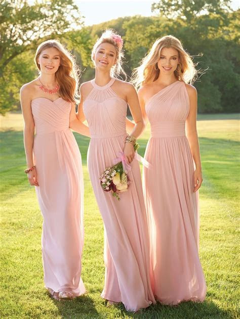 25  best ideas about Light Pink Bridesmaid Dresses on