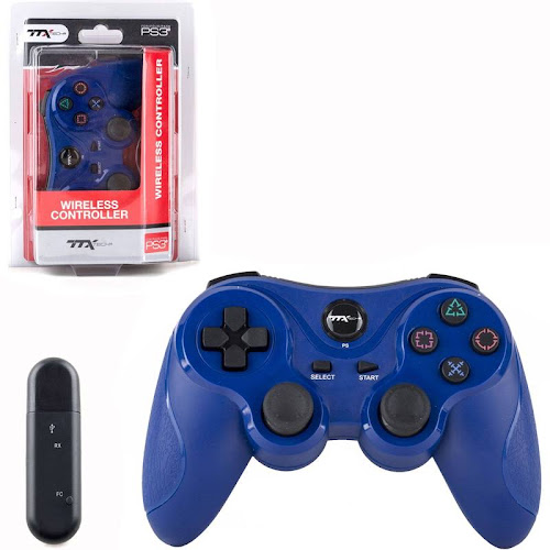 ttx Tech Sony PlayStation 3 PS3 Wireless Controller [Blue]