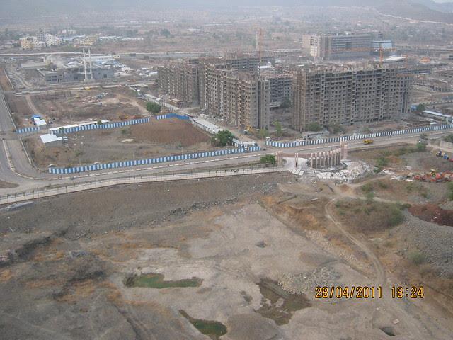 Main gate and ramp of Sangria Towers at Megapolis Hinjewadi Phase 3, Pune