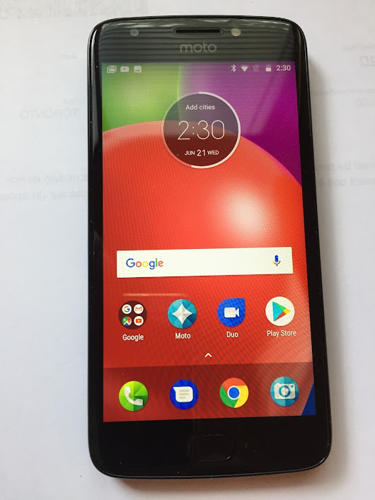 Moto e4 -- Great Budget Phone