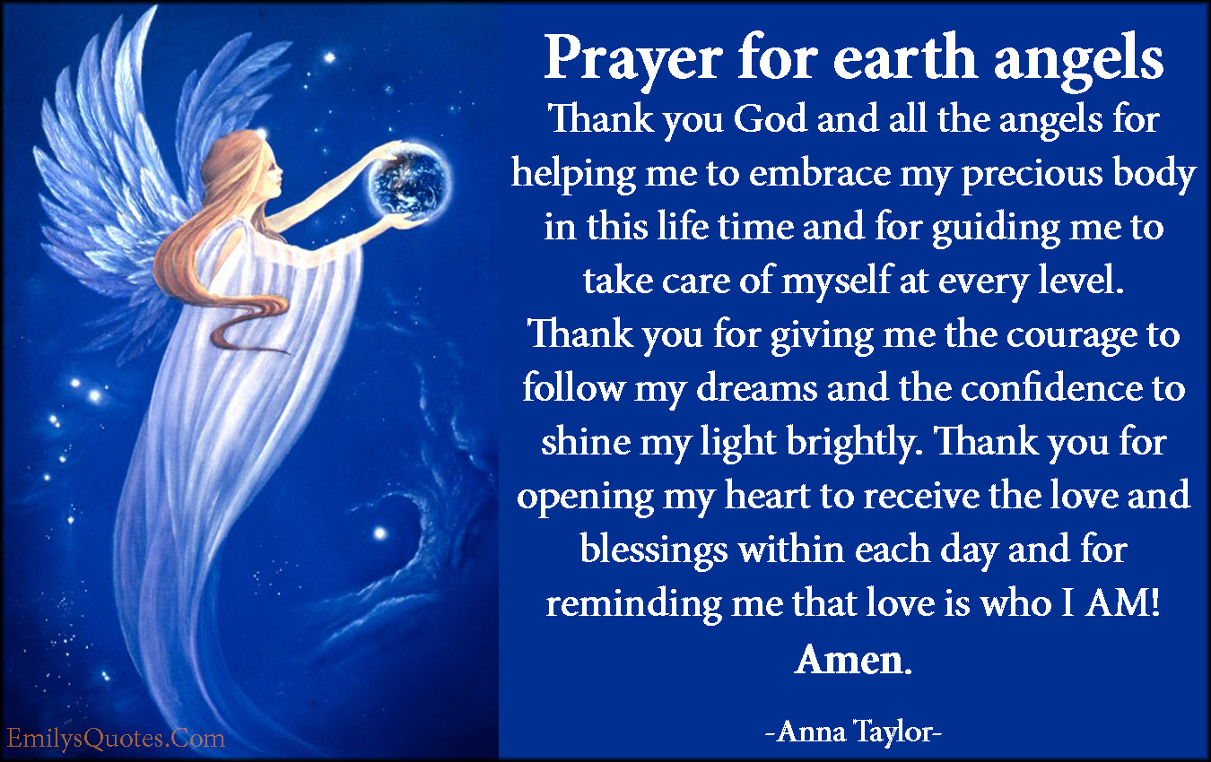 Prayer For Earth Angels Thank You God And All The Angels For Helping
