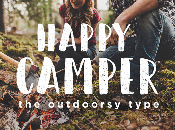 Happy Camper gratuito Brush Fuente