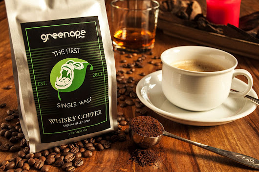 Angebot: 1st Single Malt Whisky Coffee (Veredelte Arabica Kaffeebohnen) | GreenApe - Makes Your Life Better