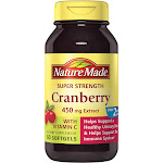 Nature Made Cranberry, with Vitamin C, 450 mg Extract, Softgels - 60 softgels