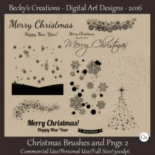 Christmas Brushes and Pngs 02 - ABR - PNG - Beckys Creations