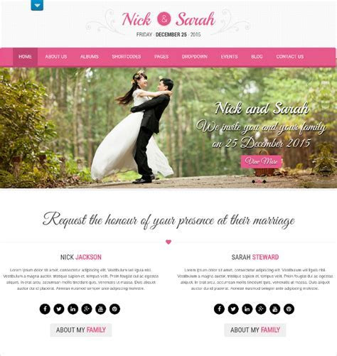 37 Free Wedding Website Themes & Templates   Free