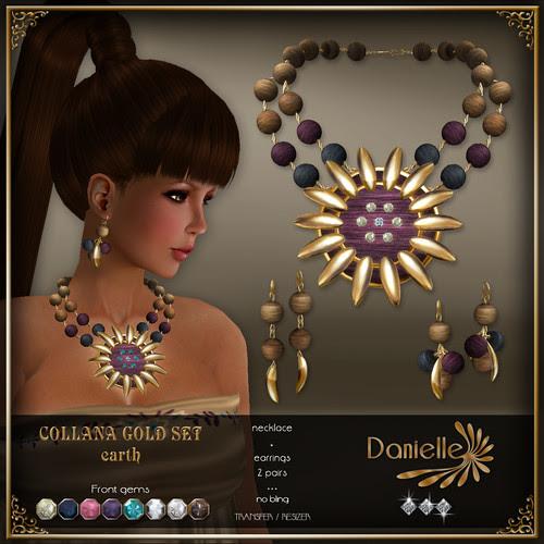 DANIELLE Collana Gold Set ~ Earth