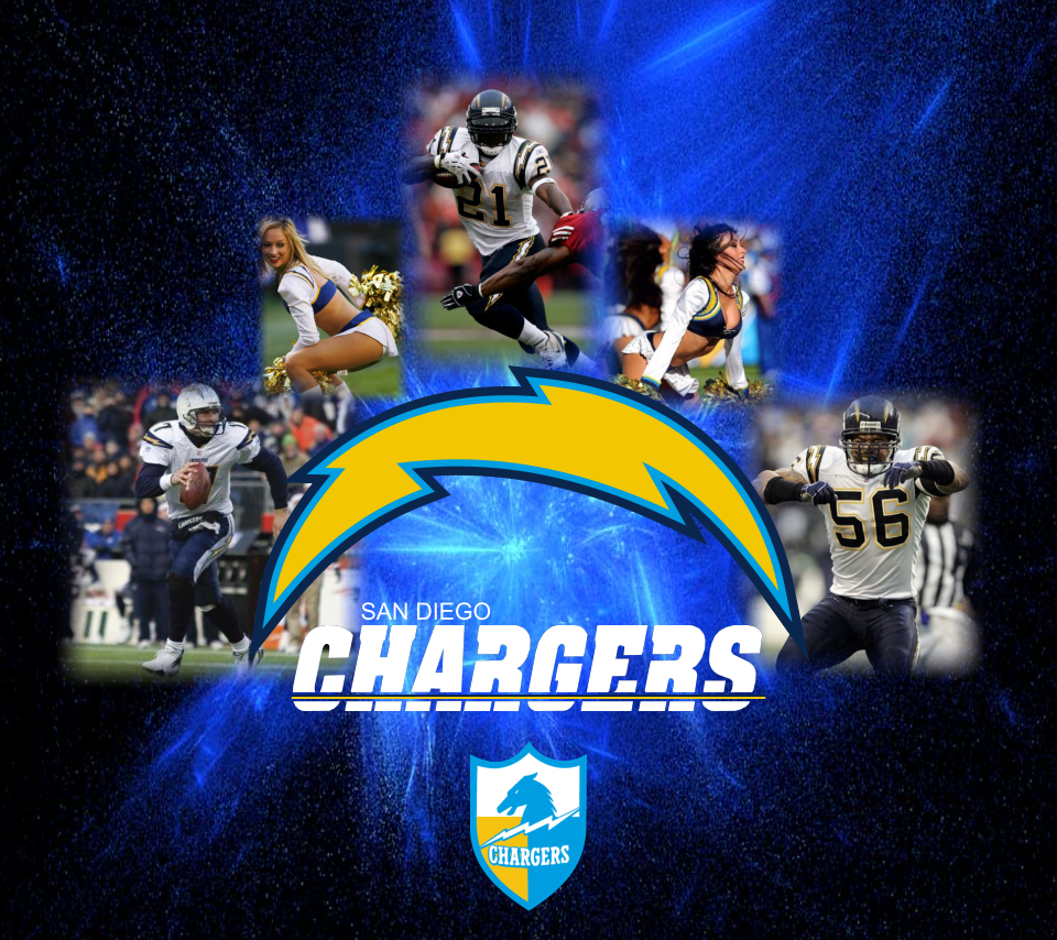 San Diego Chargers Players And Cheerleaders Wallpaper Zoom