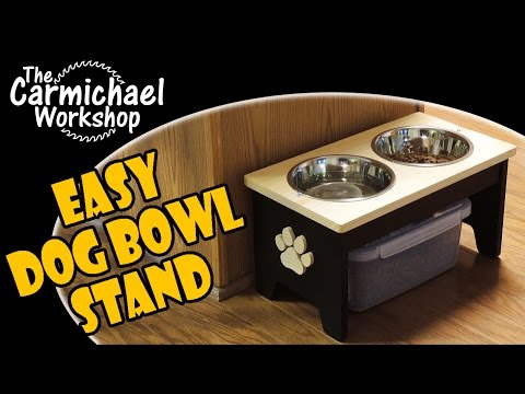 Raised Dog Food and Water Bowl Stand