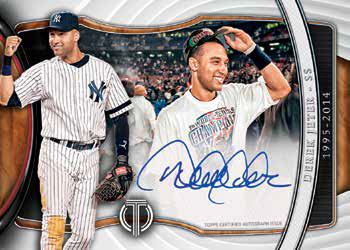 2018 Topps Tribute Baseball Generations of Excellence Autographs Derek Jeter