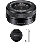 Sony E PZ 16-50mm f/3.5-5.6 OSS Lens with Ultimate Accessory Kit for Sony E-Mount Cameras