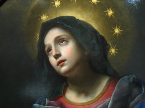 Madonna in Glory (Details), Carlo Dolci _ 1836