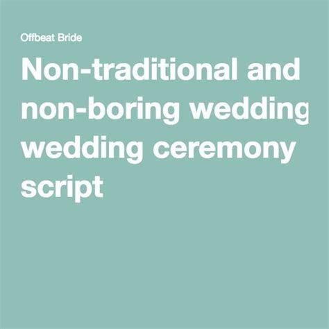 1000  ideas about Non Religious Wedding Ceremony on