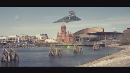 Star Wars arrives in Cardiff with impressive recreation