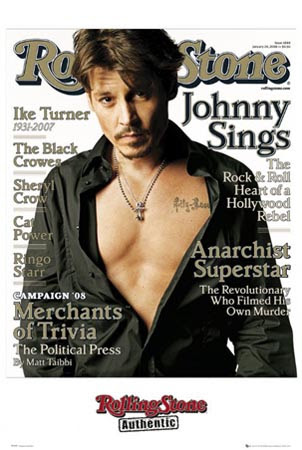 Johnny Depp Rolling Stone. Front Cover of Rolling Stone