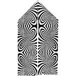Trippy Black And White Swirl Warm Fleece Scarf