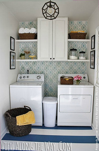 Great Stencil Ideas for Laundry Rooms | Royal Design Studio
