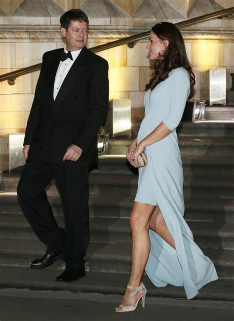 Kate Middleton Pregnant In Blue Dress Natural History