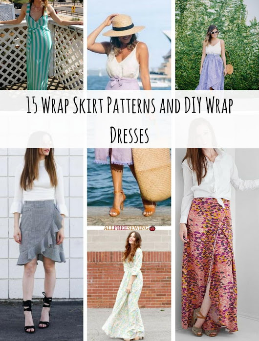 15 Wrap Skirt Patterns and DIY Wrap Dresses