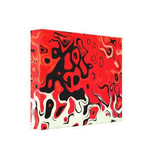 Happy Red Abstract wrappedcanvas