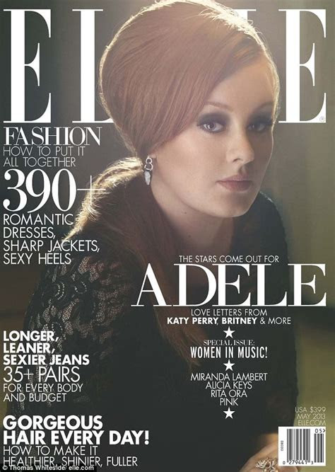 adele shines oozing retro style   graces  cover