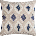 Rizzy Home Embroidered Diamond Decorative Pillow Blue