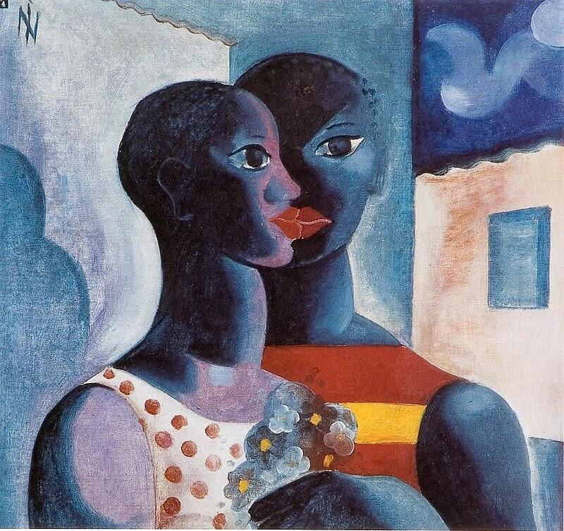 Namorados - Pintura de Ismael Nery ~ Pinturas com o tema: Namorados