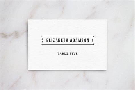 Wedding Table Place Card Template ~ Card Templates on
