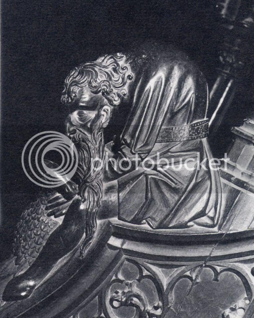 misericórdia de cadeiral da catedral de Plasencia, séc. XV- judeu a abraçar um pato bem anafado