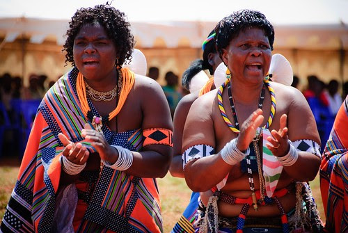 Beautiful Venda Women From South Africa Wearing Their Traditional Dress