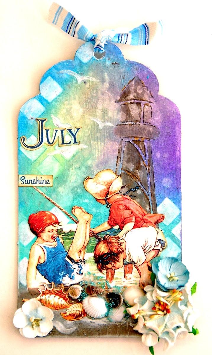 July Sunshine Tag by Irene Tan