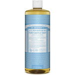 Dr Bronners Soap, Pure-Castile, 18-in-1, Hemp Baby, Unscented - 32 fl oz