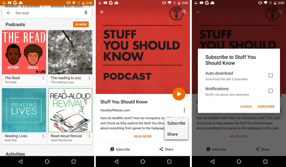 google podcast play music 2