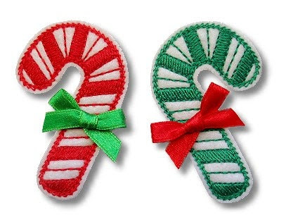 One pair Christmas Candy cane Hair clips