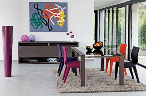 Table et chaises de terrasse: Roche bobois table salle a manger