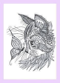 geometric tattoo  geometric tattoo cat doodle