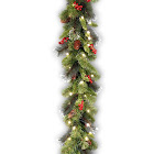 National Tree 9 Foot by 10 inch Crestwood Spruce Garland with Silver