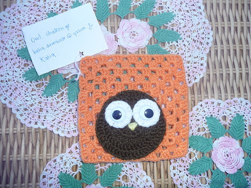 Square for 'Owl' Challenge. He is just so comical! I love the big rolling eyes! Well done Katou!