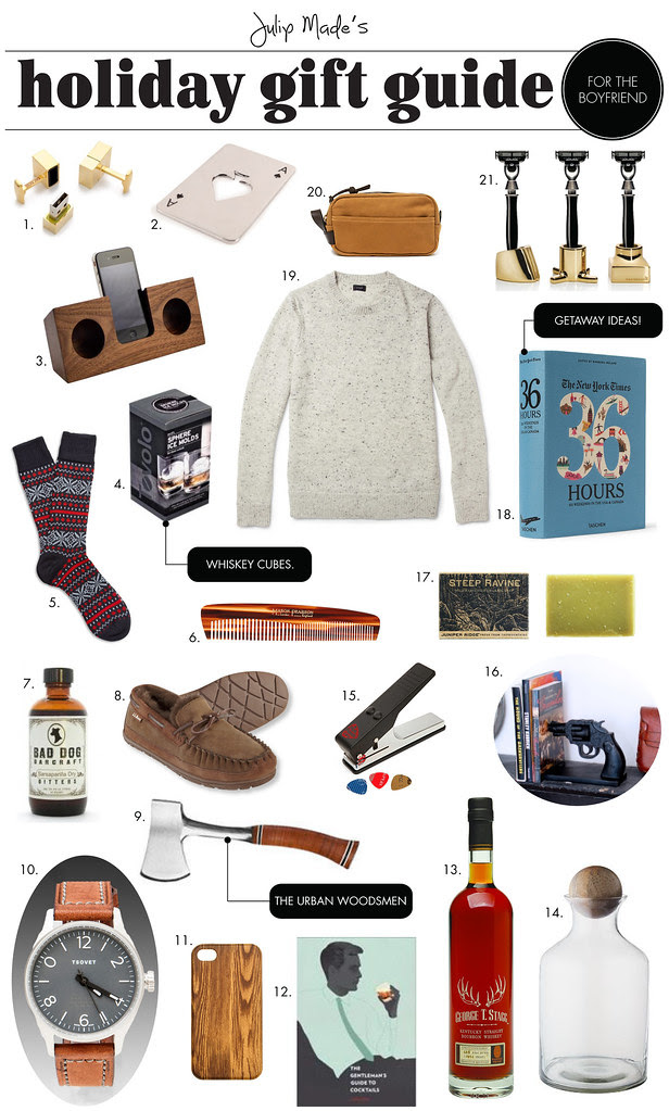 Julip Made holiday gift guide for the boyfriend