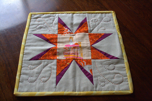 Finished doll quilt