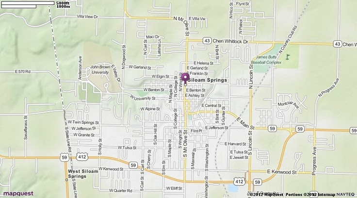 Siloam Springs Ar Map Mapquest Favorite Places