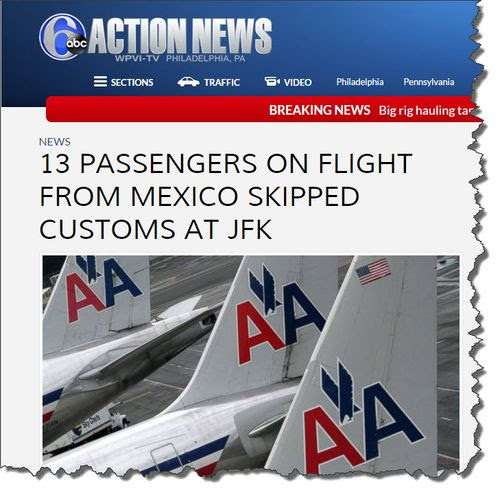 13 Airline Passengers Recently Enter U.S. from Mexico and Bypass Customs