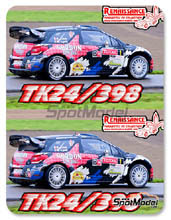 Calcas 1/24 Renaissance Models - Citroen DS3 WRC Gordon Finest Beers - Nº 1 - Sebastien Loeb - Condroz Rally 2013 para kit de Revell
