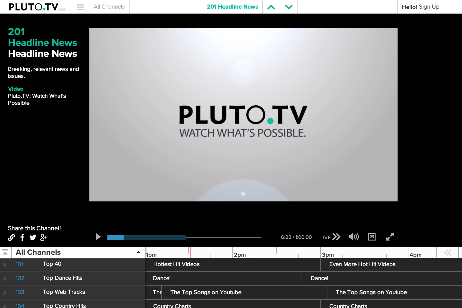 Pluto.tv aims to make YouTube work like old-school TV   Digital Trends