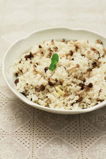 Mushroom, Garlic & Butter Rice