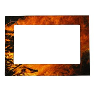 Raging Fire Magnetic Picture Frames