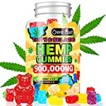 Hemp Gummies 900,000mg – 100% Natural Hemp Oil Infused Gummies for Anxiety, Stress Relief, Promotes Sleep, 90 Sweets